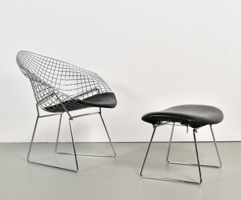 Diamond lounge chair by Harry Bertoia for Knoll, 1990s