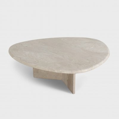 Coffee Table in Natural Travertine, 1970s