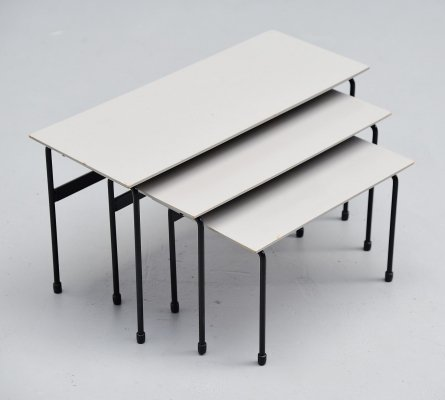Martin Visser Twello nesting tables by 't Spectrum, 1956