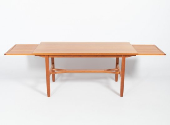 Extendable coffee table by Carl Malmsten for Afors Mobelfabriks, Sweden 1960s