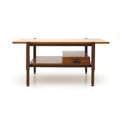 Coffee table with teak top & drawer, 60s