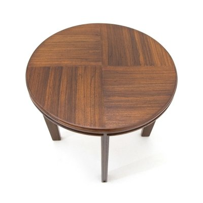 Wooden coffee table with round top, 1940s