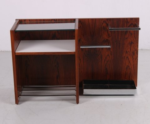 Vintage wall unit with shoe rack & umbrella stand, 1960s