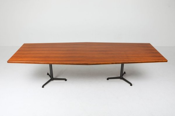 1965 Osvaldo Borsani Rosewood conference / dining table for Tecno Milano
