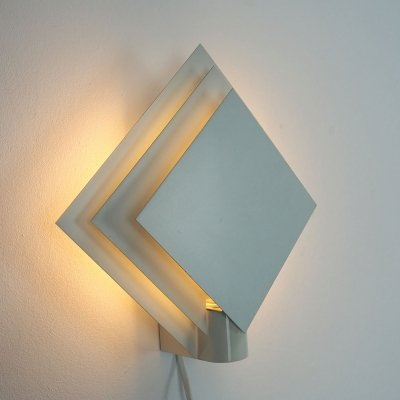 Vintage design layered metal wall lamp Plaza by Lumiance, 1980's