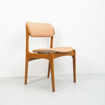 Vintage Erik Buch teak design chair model 49, 1960's