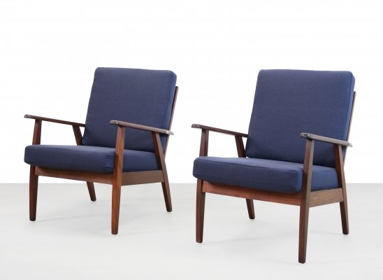 Set of two Danish design lounge chairs, 1960s