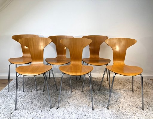 Arne Jacobsen FH 3105 'Mosquito' chairs, 1965