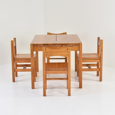 Hongisto dining set by Ilmari Tapiovaara for Laukaan Puu, Finland 1963