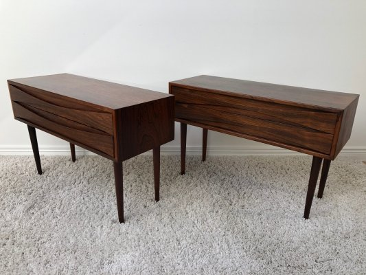 Niels Clausen matching set of Rosewood chest of drawers, 1960's