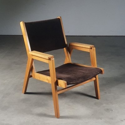 Rare 'Reconstruction' chair by female designer Bé Niegeman-Brand