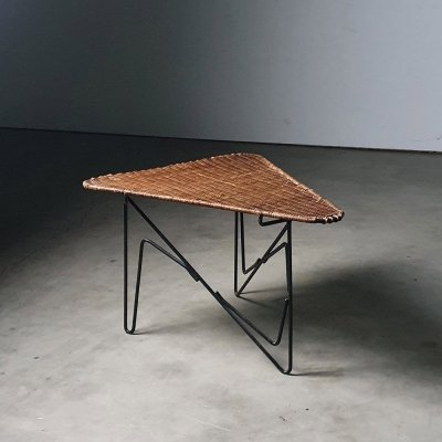 Sculptural & rare french side table by Raoul Guys, 1950s