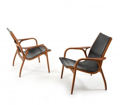 Pair of old Laminett Chairs by Yngve Ekström for Swedese, 1950s