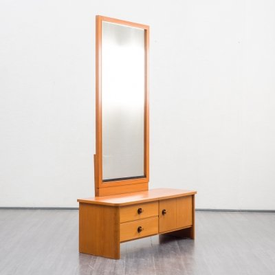 Vintage ashwood dresser / dressing table with mirror, 1950s
