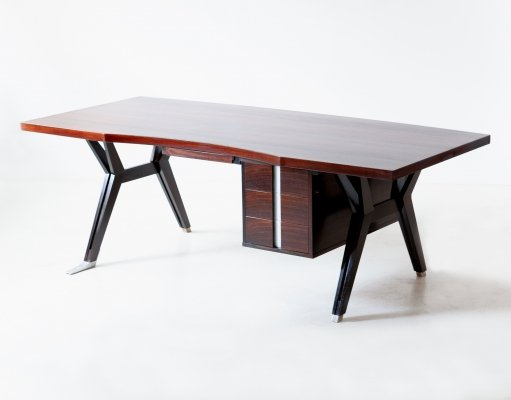 1950s Executive Rosewood Desk by Ico Parisi for MIM Roma