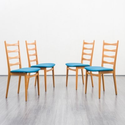 Set of 4 midcentury dining chairs, 1950s