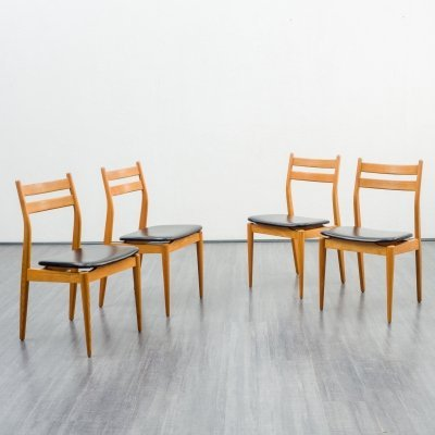 Set of 4 dining chairs in ashwood, 1960s
