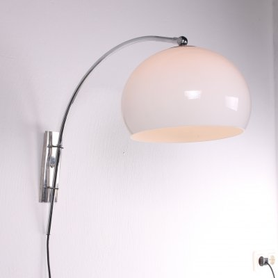 Vintage Space Age design arc wall lamp by Dijkstra, 1960s
