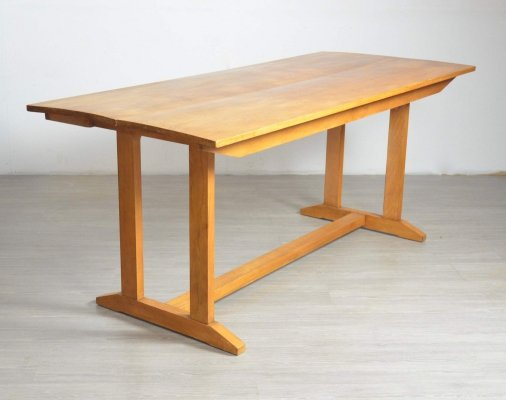 Oak Refectory Dining Table, 1950s