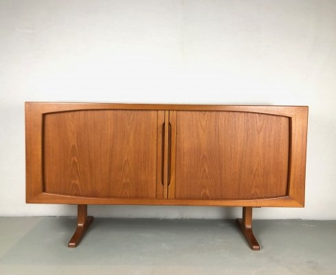 Danish Sideboard with tambour doors, 1960s