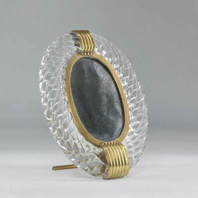 1950's Murano Vanity Mirror by Carlo Scarpa for Venini