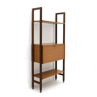 Bookcase with wooden uprights by Faram, 1960's