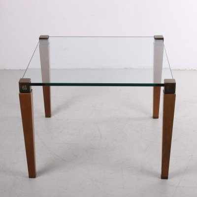 Peter Ghyczy T 56/2 table with wooden legs