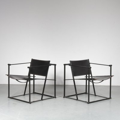 Pair of Cubic FM60 Chairs by Radboud van Beekum for Pastoe, Netherlands 1980s