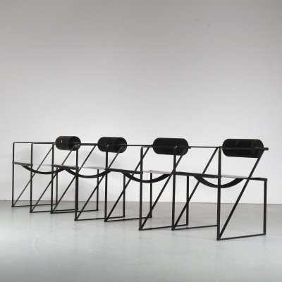 Set of 4 Seconda arm chairs by Mario Botta for Alias, 1980s