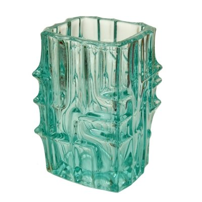 Light blue Glass Vase by Vladislav Urban for Sklo Union Rosice, Czechoslovakia
