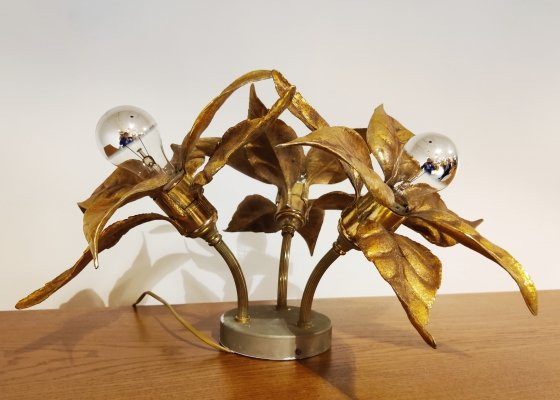 Brass Flower table or ceiling light by Willy Daro, 1970's