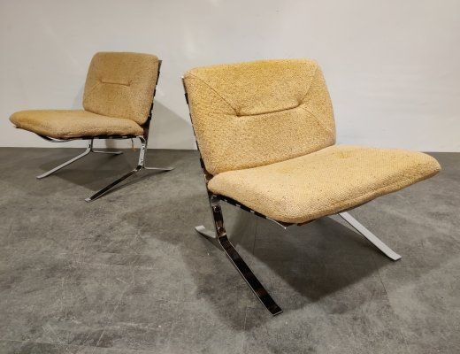 Pair of Joker lounge chairs by Olivier Mourgue, 1970s