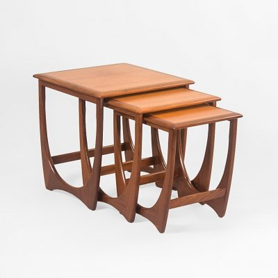 Teak Fresco nesting tables by Victor Wilkins for G Plan, UK 1970's