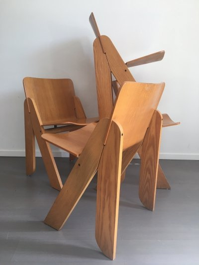 Set of 4 dining chairs by Gigi Sabadin for Stilwood, 1970s