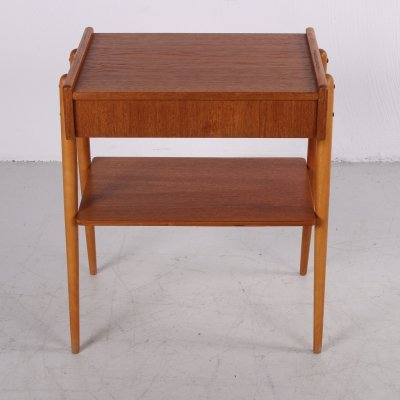 Swedish Design Bedside table with drawer, 1960s