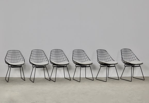 SM05 Wire chairs by Cees Braakman & Adriaan Dekker for Pastoe, 1958