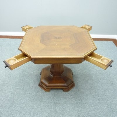 Art Deco Walnut Game Table, 1920s