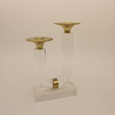 Lucite candlestick, 1980s