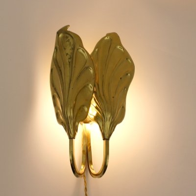 Double leaves wall lamp by Tommaso Barbi, Italy 1970s