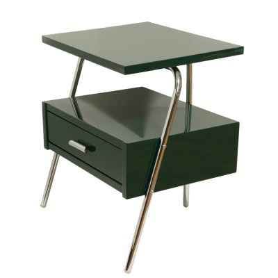 Glossy Green Bedside table by Żywiec Hospital Equipment Factory, Poland 1950s