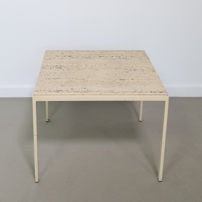 Travertine side table by Artimeta, 1960s