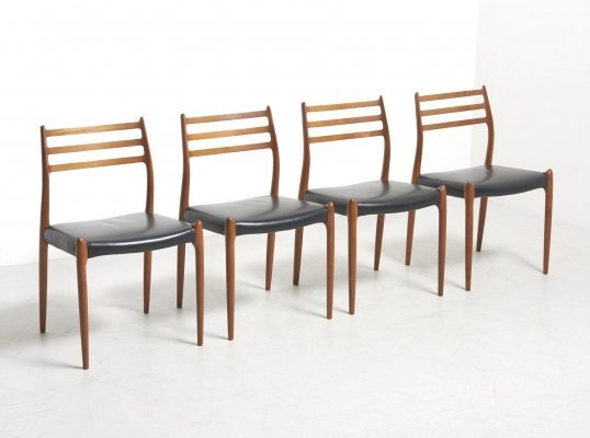 Set of 4 Dining Chairs by Niels O. Møller for J.L. Møllers Møbelfabrik, Denmark