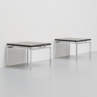 Pair of minimalist slate side tables, Denmark 1960