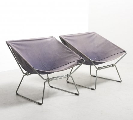 Pair of Rare AP14 Easy Chairs by Pierre Paulin for AP Originals, 1950s