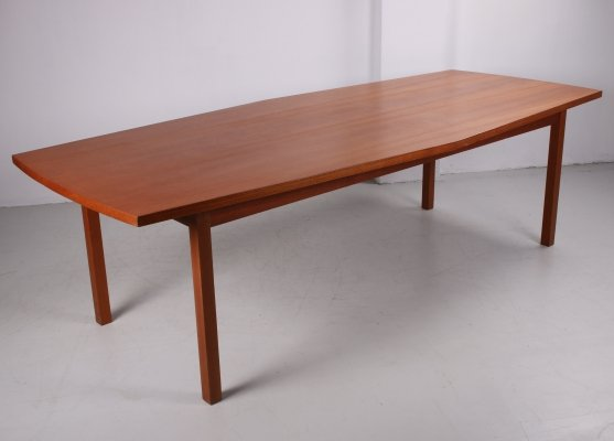 Large Swedish Dining Table in teak, 1960s