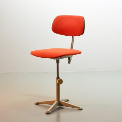 Ahrend De Cirkel Industrial Desk Chair, Dutch Design 1950s