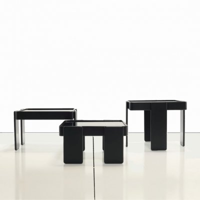 Gianfranco Frattini interlocking square nesting tables for Cassina