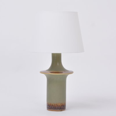 Tall Danish Mid-Century Modern Ceramic table lamp by Soholm