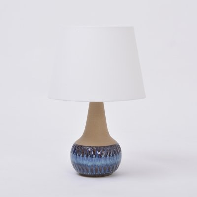 Soholm handmade Danish Mid-Century Modern Stoneware lamp with blue ceramic base