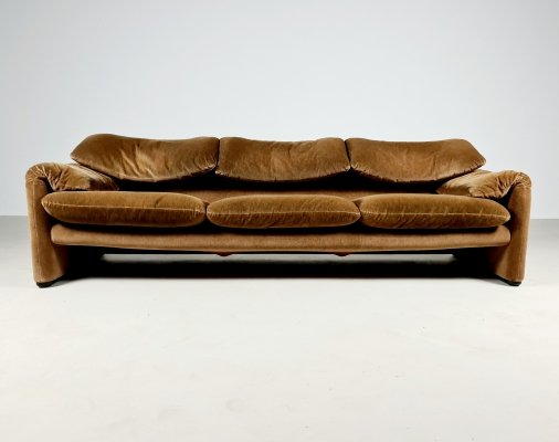 Maralunga 3-seater sofa by Vico Magistretti for Cassina, 1970s